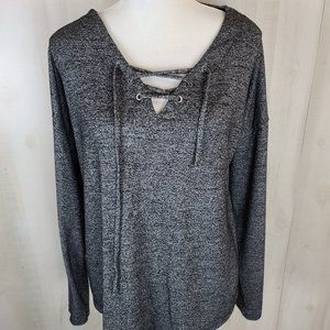 A New Day LARGE Gray Long Sleeve Top